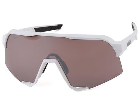 100% S3 Sunglasses (Matte White) (HiPER Silver Mirror Lens)