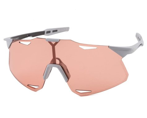 100% Hypercraft Sunglasses (Matte Stone Grey) (HiPER Coral Lens)