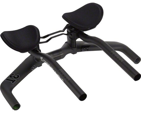 3T Vola Team Stealth Aerobar (Black) (S-Bend Extension) (38cm Width) (0mm Drop)