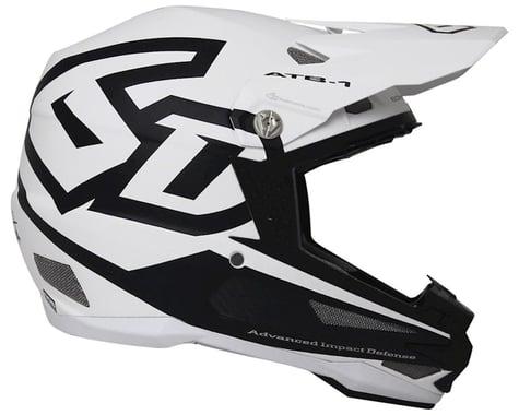 6D Helmets 6D ATB-1 Carbon Macro DH/BMX Full-Face Helmet - Matte White, X-Small
