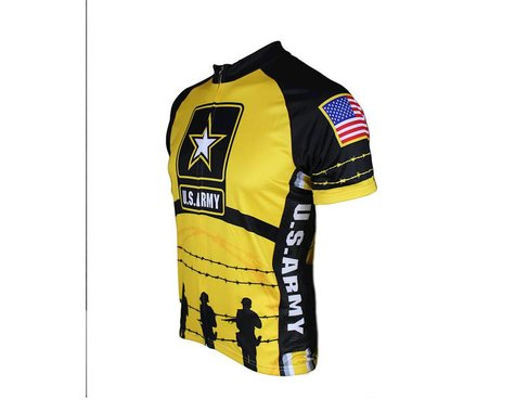 83 Sportswear U.S. Army Soldiers Short Sleeve Jersey (Yellow)