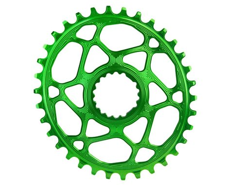 Absolute Black Cannondale Hollowgram DM Oval Ring (Green) (34T)