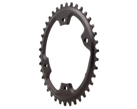 Absolute Black Asymmetric CX 1X Oval Chainring (Black) (110mm BCD)