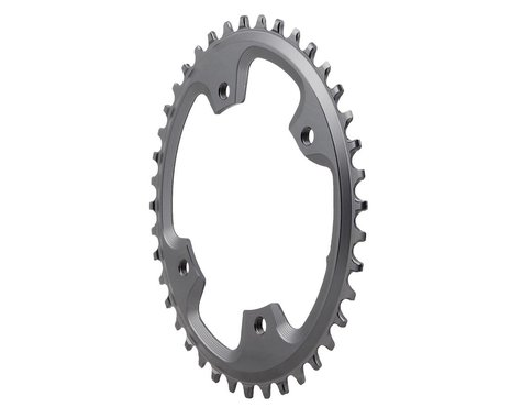 Absolute Black Asymmetric CX 1X Oval Chainring (Grey) (110mm BCD) (40T)