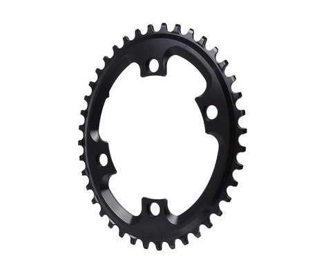 Absolute Black Asym CX Oval Chainring (Black) (110mm BCD) (40T)