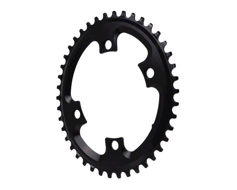 Absolute Black Asym CX Oval Chainring (Black) (110mm BCD) (42T)