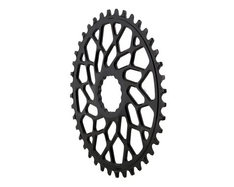 Absolute Black Easton Direct Mount CX Oval Chainring (Black) (40T)
