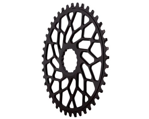 Absolute Black Easton Direct Mount CX Oval Chainring (Black) (42T)