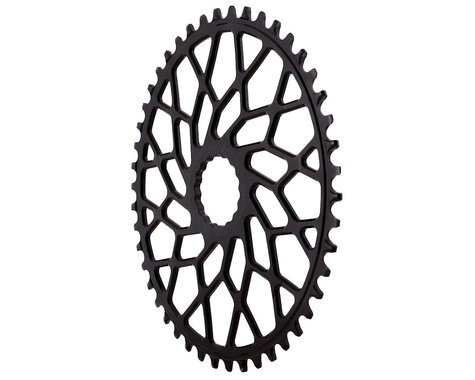 Absolute Black Easton Direct Mount CX Oval Chainring (Black) (46T)