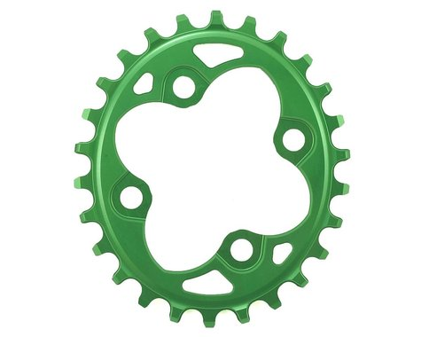 Absolute Black Oval Chainring (Green) (64mm BCD) (26T)