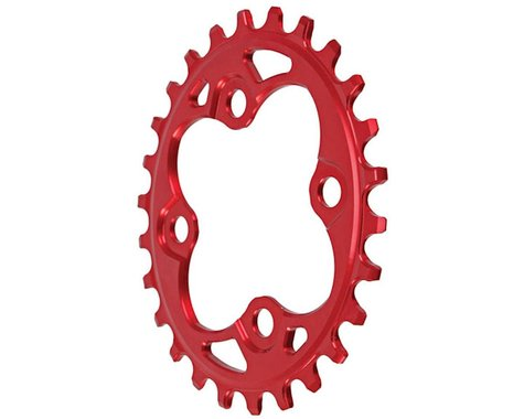 Absolute Black Oval Chainring (Red) (64mm BCD)