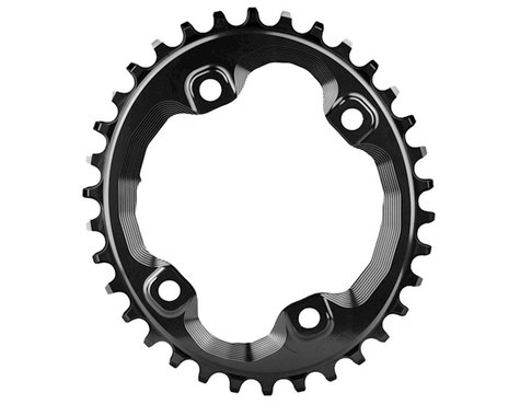 Absolute Black XT Asym Oval Chainring (Black) (96mm BCD) (34T)