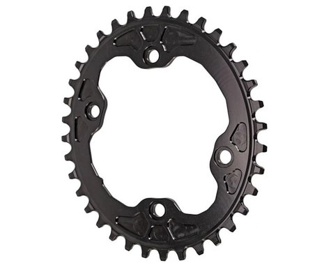 Absolute Black XT Asym Oval Chainring (Black) (96mm BCD) (36T)