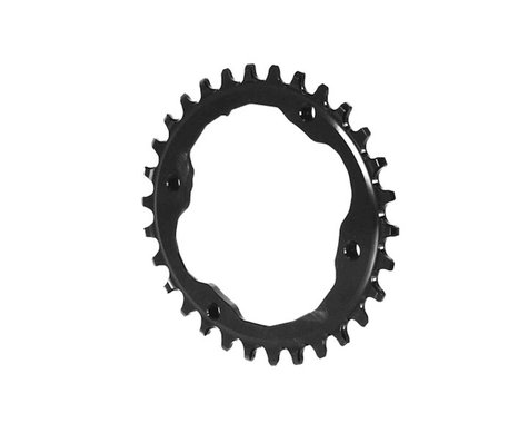 Absolute Black XTR Asym Oval Chainring (Black) (96mm BCD)