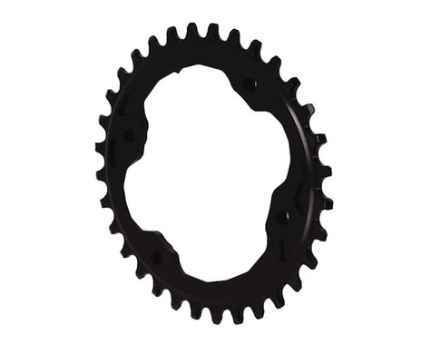 Absolute Black XTR Asym Oval Chainring (Black) (96mm BCD) (32T)