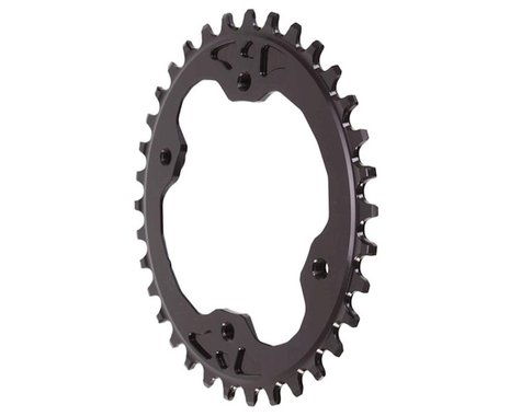 Absolute Black XTR Asym Oval Chainring (Black) (96mm BCD) (34T)