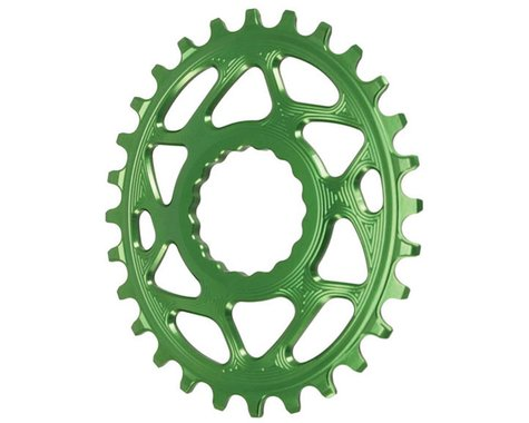 Absolute Black Direct Mount Race Face Cinch Oval Ring (Green) (28T)