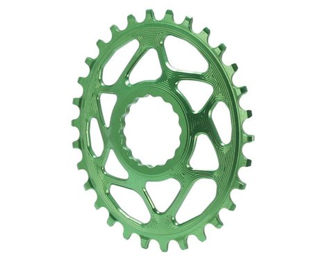 Absolute Black Direct Mount Race Face Cinch Oval Ring (Green)