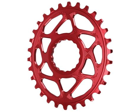 Absolute Black Direct Mount Race Face Cinch Oval Ring (Red) (6mm Offset) (30T)