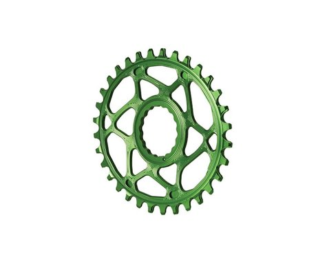 Absolute Black Direct Mount Race Face Cinch Oval Ring (Green) (32T)