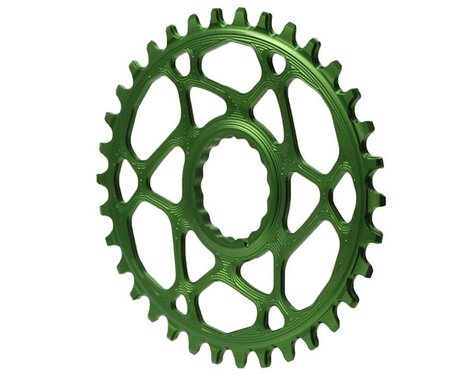 Absolute Black Direct Mount Race Face Cinch Oval Ring (Green) (34T)