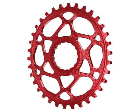 Absolute Black Direct Mount Race Face Cinch Oval Ring (Red) (34T)
