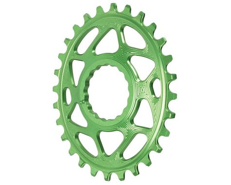 Absolute Black Direct Mount Race Face Cinch Oval Ring (Green) (Boost) (3mm Offset (Boost)) (28T)