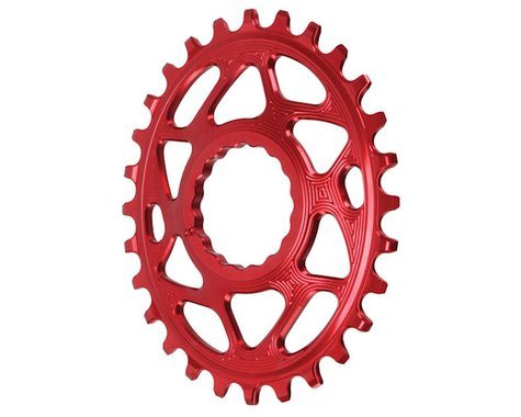 Absolute Black Direct Mount Race Face Cinch Oval Ring (Red) (Boost) (28T)