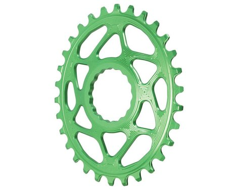 Absolute Black Direct Mount Race Face Cinch Oval Ring (Green) (Boost) (30T)