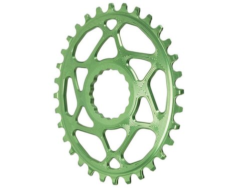 Absolute Black Direct Mount Race Face Cinch Oval Ring (Green) (Boost) (3mm Offset (Boost)) (32T)