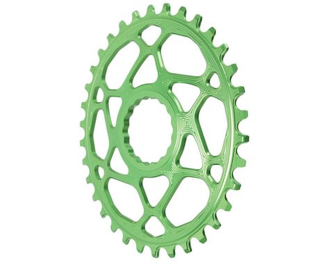 Absolute Black Direct Mount Race Face Cinch Oval Ring (Green) (Boost) (34T)