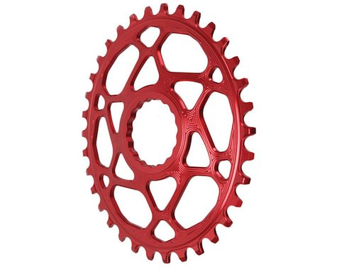 Absolute Black Direct Mount Race Face Cinch Oval Ring (Red) (Boost) (34T)