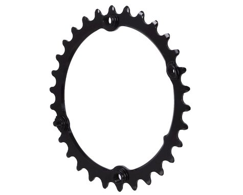Absolute Black Premium Oval Subcompact Road Chainring (Black) (110mm BCD) (30T)