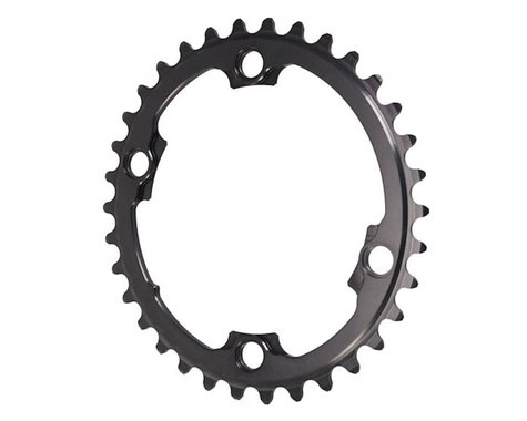 Absolute Black Winter 2x Oval Chainring (Black) (110mm BCD)