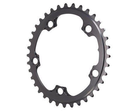 Absolute Black Winter 2x Oval Chainring (Black) (110mm BCD) (36T)