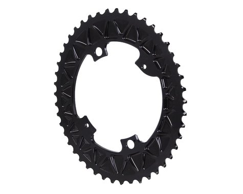 Absolute Black Premium Oval Subcompact Road Chainring (Black) (110mm BCD) (46T)