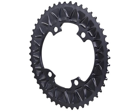 Absolute Black Premium Oval Subcompact Road Chainring (Grey) (110mm BCD) (48T)