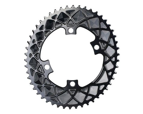 Absolute Black Premium 2x Oval Chainring (Black) (110mm BCD) (50T)