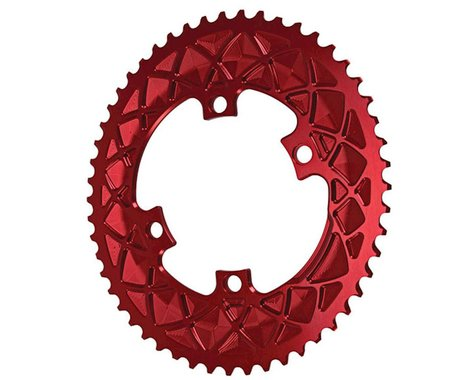 Absolute Black Premium 2x Oval Chainring (Red) (110mm BCD) (50T)