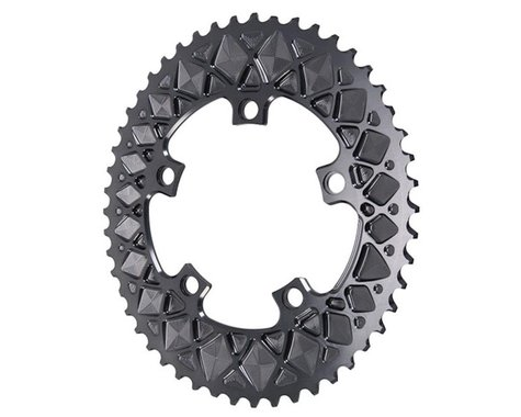 Absolute Black Premium 2x Oval Chainring (Grey) (110mm BCD) (50T)
