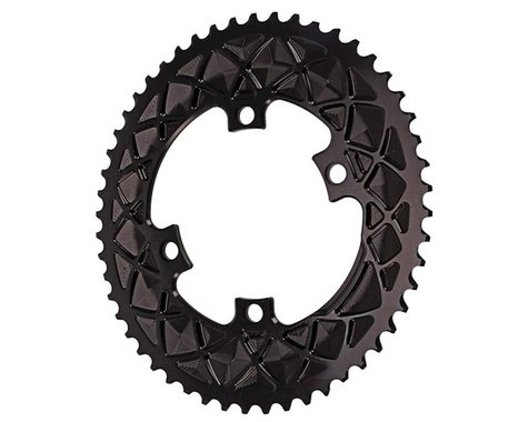 Absolute Black Premium 2x Oval Chainring (Black) (110mm BCD) (52T)