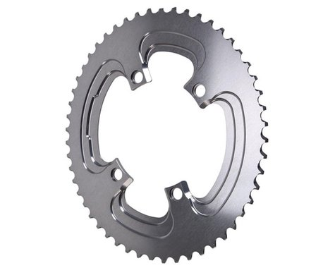 Absolute Black Winter 2x Oval Chainring (Silver) (110mm BCD) (52T)