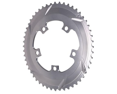 Absolute Black Premium 2x Oval Chainring (Grey) (110mm BCD) (52T)