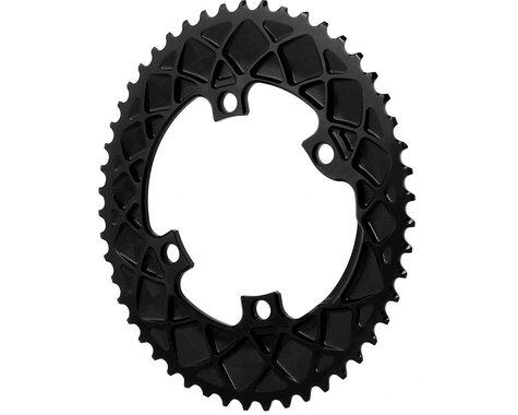 Absolute Black Premium Shimano 9100/8000 Oval Chainring (Black) (50T)