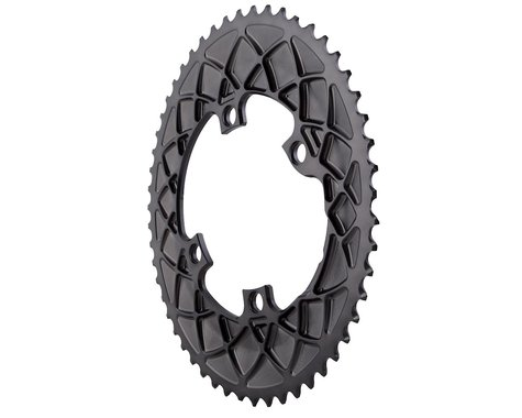 Absolute Black Premium Shimano 9100/8000 Oval Chainring (Grey) (53T)