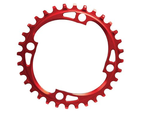 Absolute Black Chainring (Red) (104mm BCD) (36T)