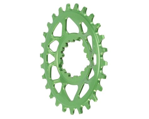Absolute Black Spiderless GXP Direct Mount Oval Ring (Green) (26T)