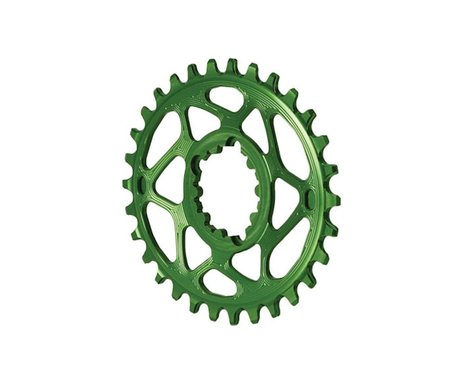 Absolute Black Spiderless GXP Direct Mount Oval Ring (Green) (30T)