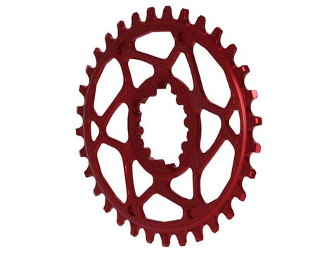 Absolute Black Spiderless GXP Direct Mount Oval Ring (Red) (32T)