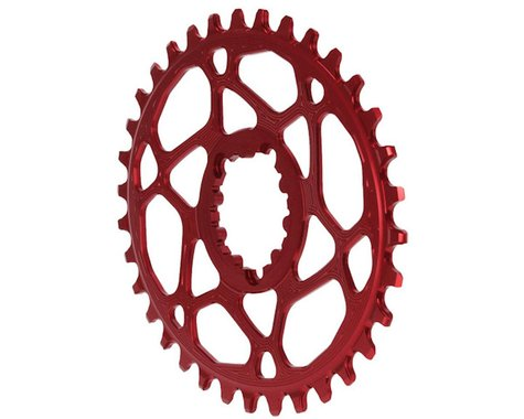 Absolute Black Spiderless GXP Direct Mount Oval Ring (Red) (34T)